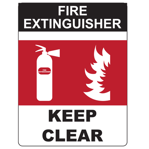 Fire Extinguisher, Keep Clear - Graphical Warehouse