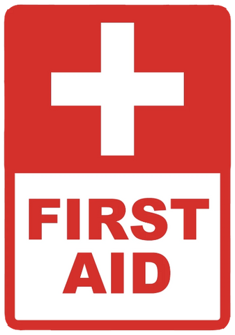 """First Aid"" Reflective Coroplast Sign"