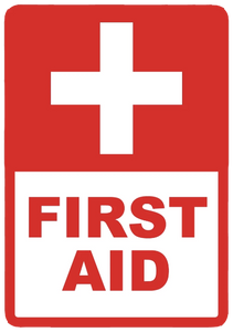"""First Aid"" Laminated Aluminum 2-Way Sign"