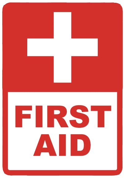 """First Aid"" Coroplast Sign"