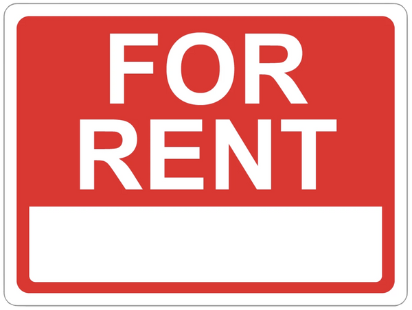 """For Rent"" Reflective Coroplast Sign"