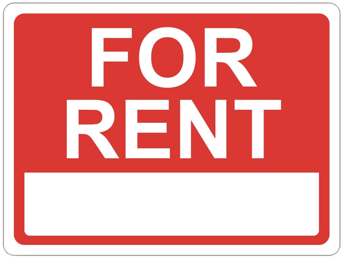 """For Rent"" Coroplast Sign"