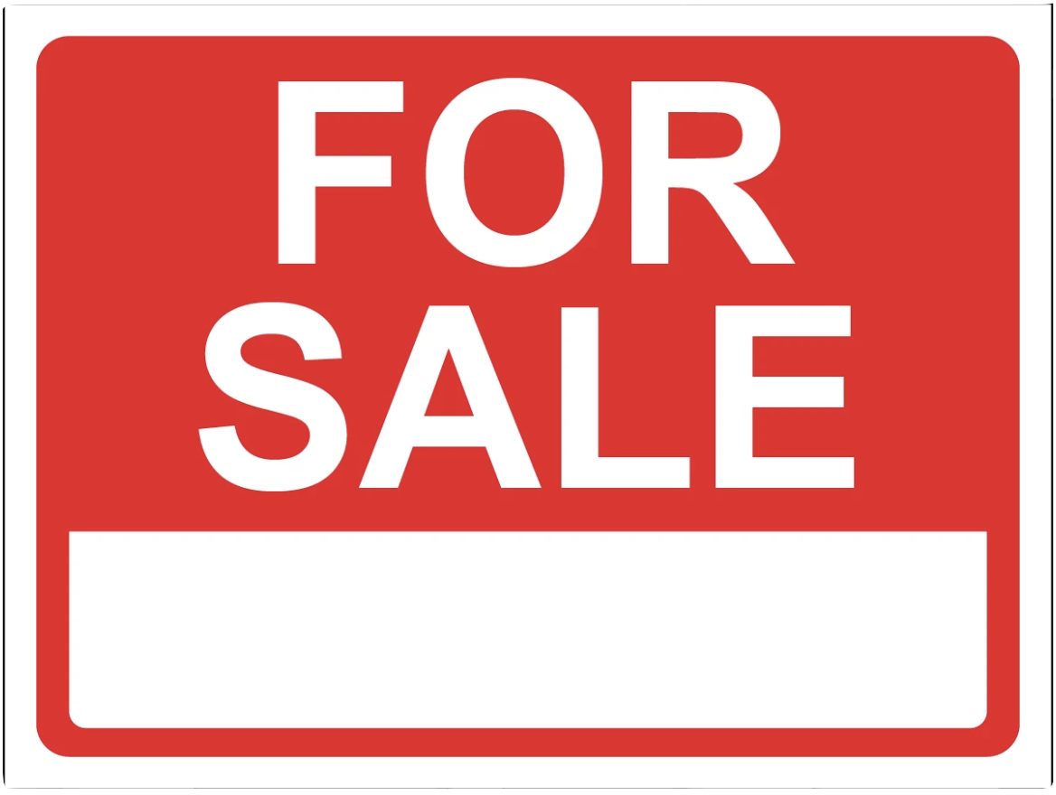 """For Sale"" Laminated Aluminum Sign"