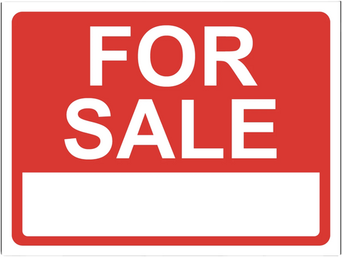 """For Sale"" Laminated Aluminum 2-Way Sign"