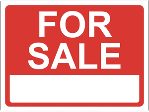 """For Sale"" Laminated Aluminum 3-Way Sign"
