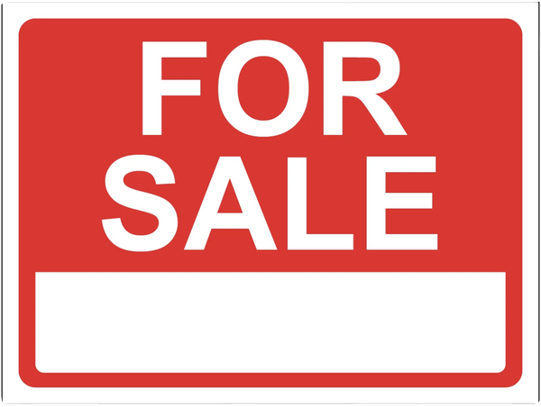 """For Sale"" Reflective Polystyrene Sign"
