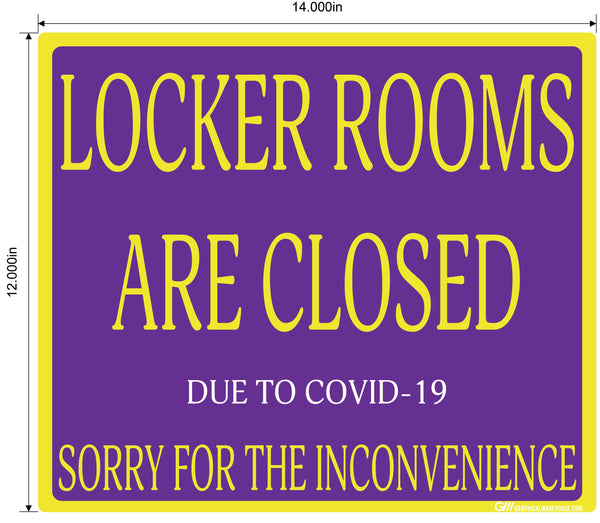 """Locker Rooms are Closed"" Gym, Adhesive Durable Vinyl Decal- Various Sizes/Colors Available"