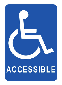 """Handicap Accessible"" Laminated Aluminum 2-Way Sign"