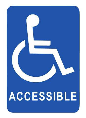 """Handicap Accessible"" Reflective Polystyrene Sign"