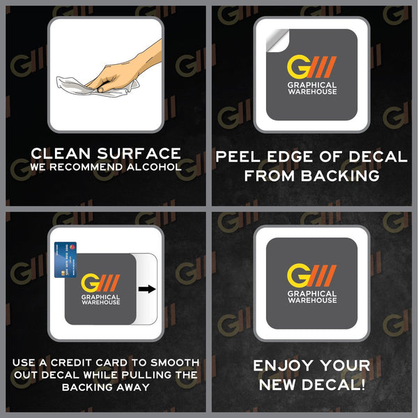"""Help Stop The Spread of Germs"" Adhesive Durable Vinyl Decal- Various Colors Available- 12x14"""