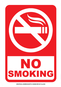"""No Smoking"" Reflective Coroplast Sign"