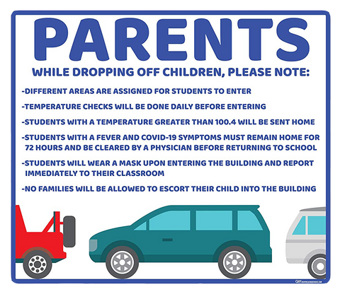 """Parents, School Drop Off"" Adhesive Durable Vinyl Decal- Various Sizes/Colors Available"