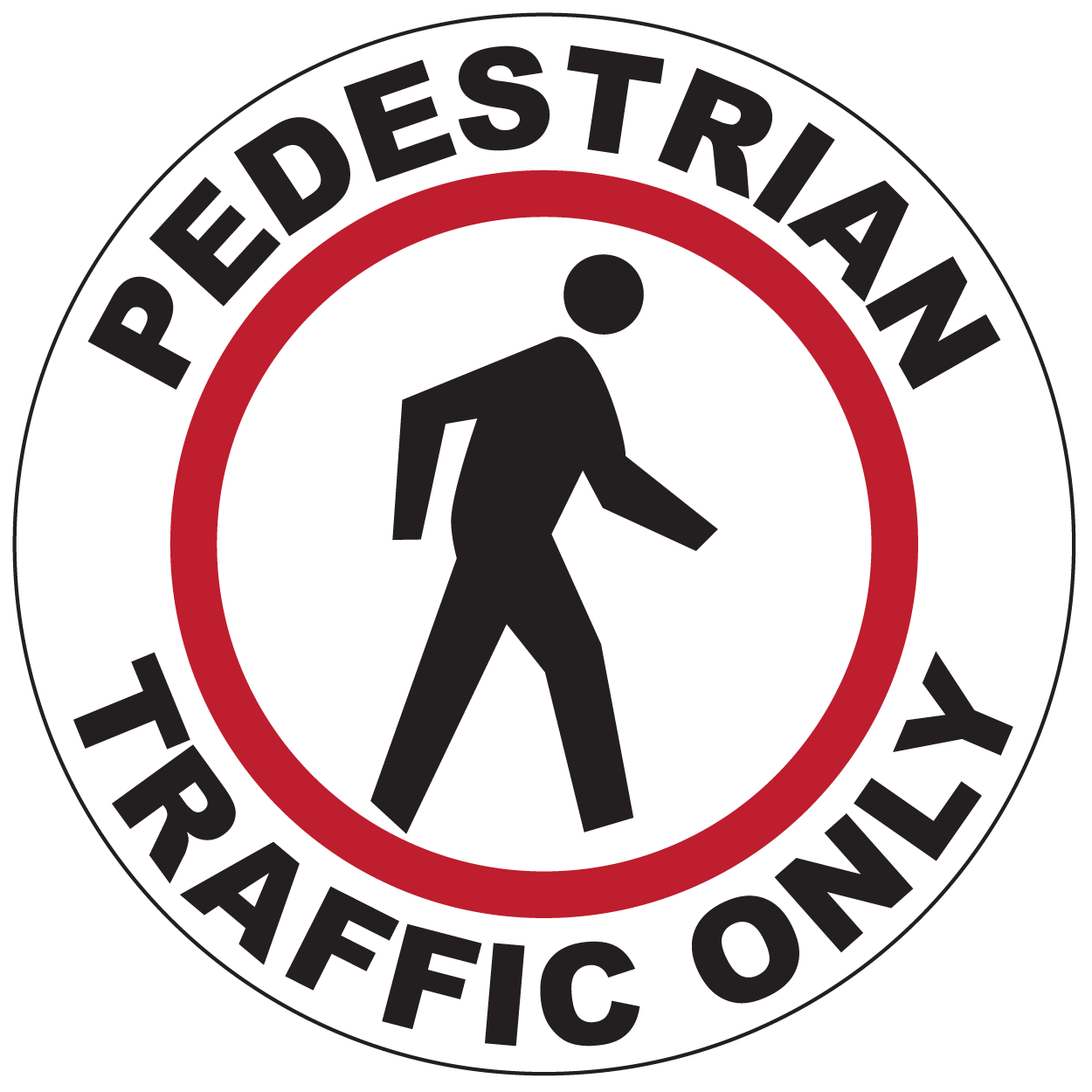 Pedestrian Traffic Only - Graphical Warehouse
