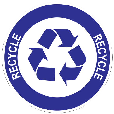 """Recycle"" Durable Matte Laminated Vinyl Floor Sign- Various Sizes Available"