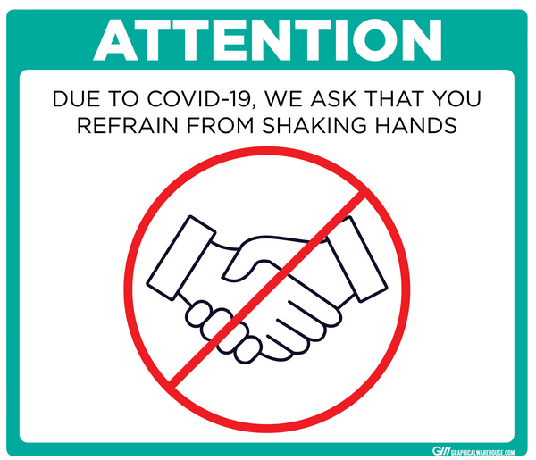 """Refrain From Shaking Hands"" Adhesive Durable Vinyl Decal- Various Sizes/Colors Available"
