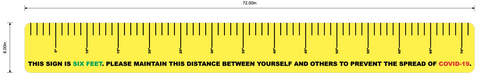 "Social Distancing Ruler - 72""x8"" Durable Floor Sign"
