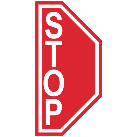 "Stop Sign ""Right Side"" Durable Matte Laminated Vinyl Floor Sign- Various Sizes Available"