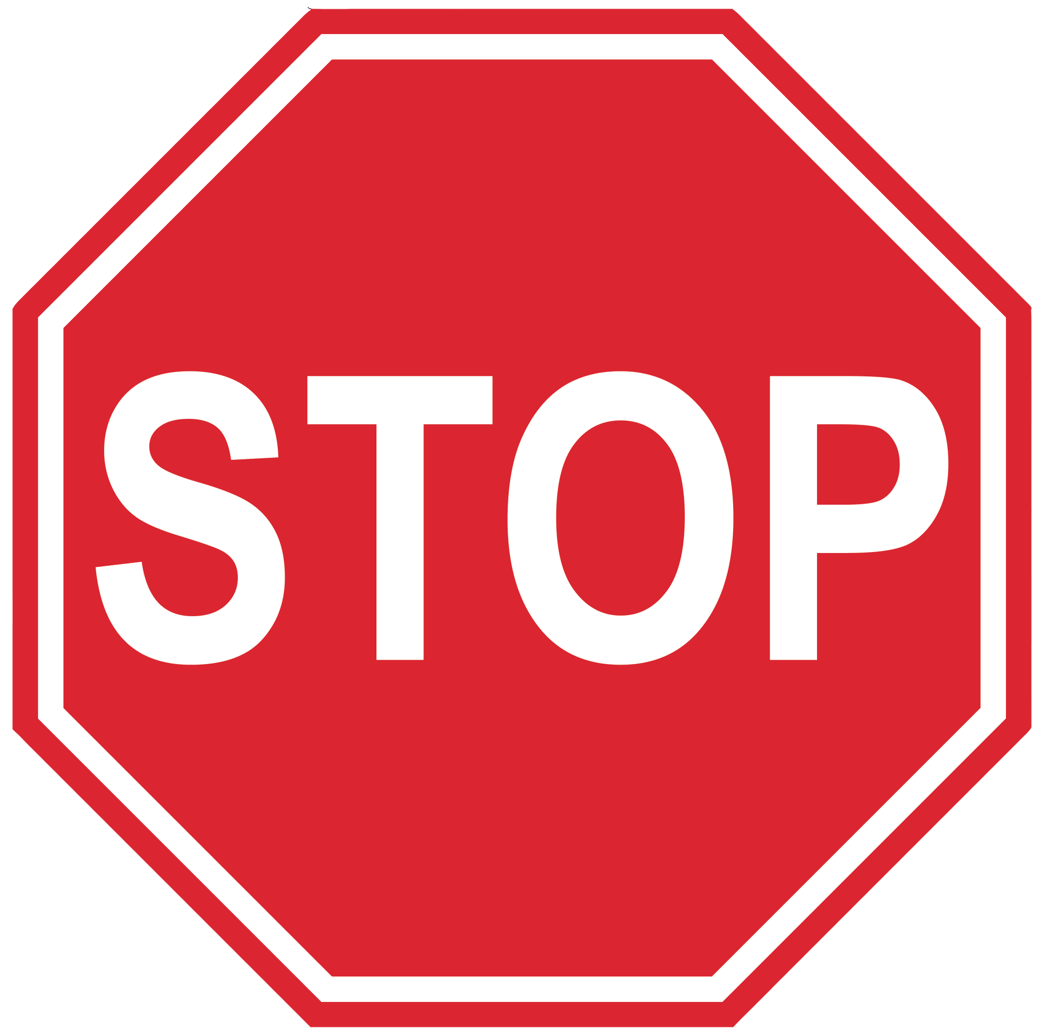 Stop Sign- Durable Matte Laminated Vinyl Floor Sign- Various Sizes Available