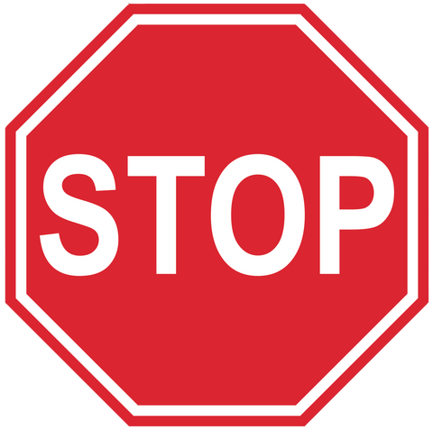 "Stop Sign, Laminated Aluminum Sign- 24"" Octagon"