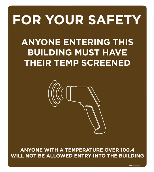 """Temp Screen for Safety"" Adhesive Durable Vinyl Decal- Various Sizes/Colors Available"
