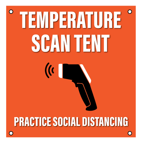 """Temperature Scan Tent""- Durable Laminated 10 mm Coroplast- 24"""