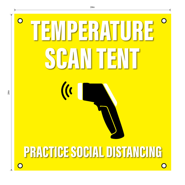Temperature Scan Tent Set- Durable Laminated 10 mm Coroplast- 24""