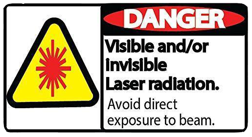 "Danger ""Laser Radiation"" Durable Matte Laminated Vinyl Floor Sign- Various Sizes Available"
