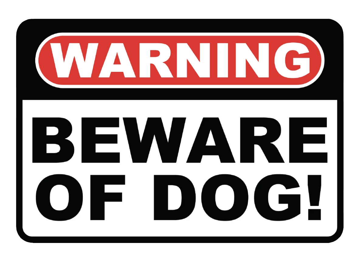 """Beware of Dog"" Reflective Polystyrene Sign"