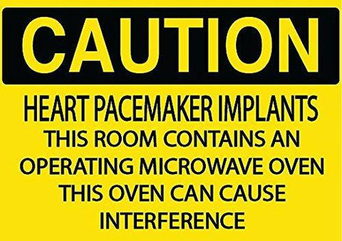 Caution Heart Pacemaker Implant sign - Graphical Warehouse