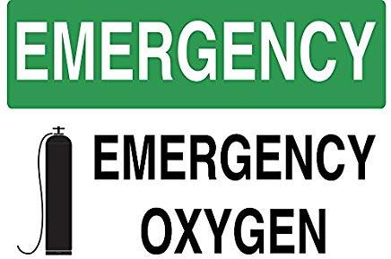 Emergency Oxygen sign - Graphical Warehouse