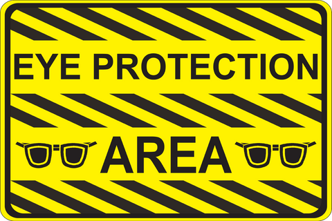 CAUTION: Eye Protection Area - Graphical Warehouse