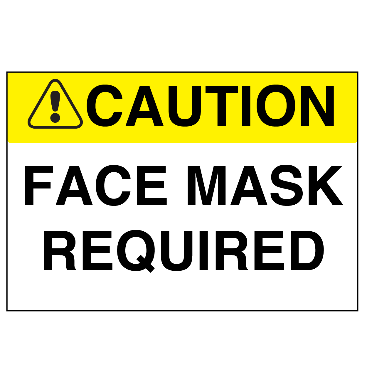 Face Mask Required - Graphical Warehouse