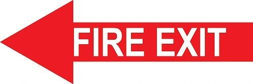 Fire Safety: Fire Extinguisher Arrow - Graphical Warehouse