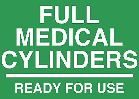 Full Medical Cylinder sign - Graphical Warehouse