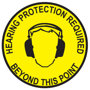 WARNING: Hearing Protection Required - Graphical Warehouse