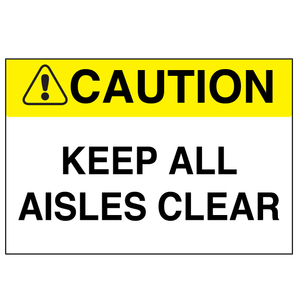 Keep All Aisles Clear - Graphical Warehouse