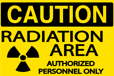 Radiation Area sign - Graphical Warehouse