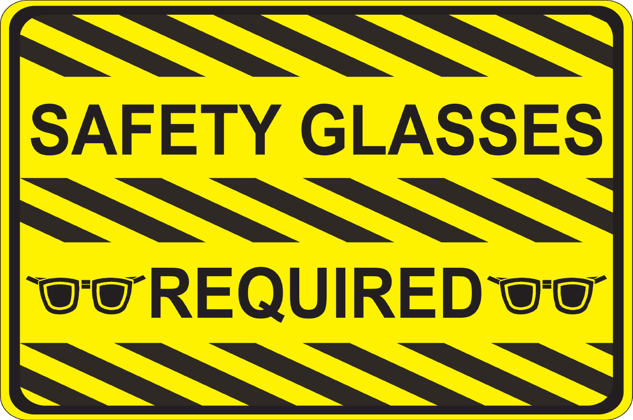 Safety Glasses Required - Graphical Warehouse