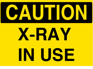 X-Ray In Use sign - Graphical Warehouse