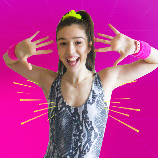 Erin's Workout - Routines are Pump up the jam, Flashdance, Rhythm is a dancer, Simply the best and McHammer.