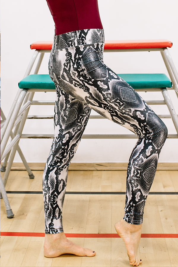 Mum-Dance Snakeskin Printed Animal Print Leggings dance wear workout 80s class