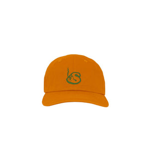 ORANGE UNSTRUCTURED LOGO CAP