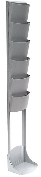 6 Pocket Options Literature Stand Grey #926GR