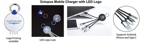 Octopus Mobile Charger with LED Logo