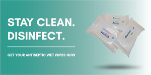 Antiseptic wet wipes that disinfects
