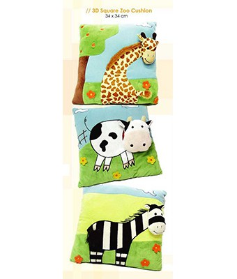 3D Square Zoo Cushion - Tredan Connections