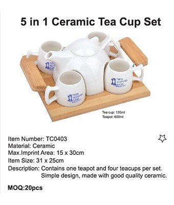 5 in 1 Ceramic Tea Cup Set - Tredan Connections
