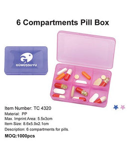 6 Compartments Pill Box - Tredan Connections