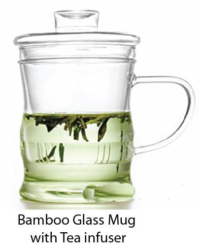 Bamboo Glass Mug with Tea Infuser - Tredan Connections