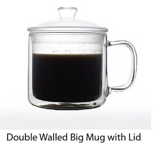 Double Walled Big Mug with Lid - Tredan Connections
